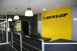 Partitions And Aluminium Doors In Dunlops Reception Area