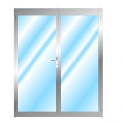 Glazed Door Without Midrail