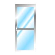 Aluminium Opening Door With Midrail Glazed RH