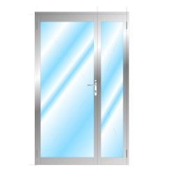 Aluminium Opening Door With Side Partition And No Midrail Glazed LH