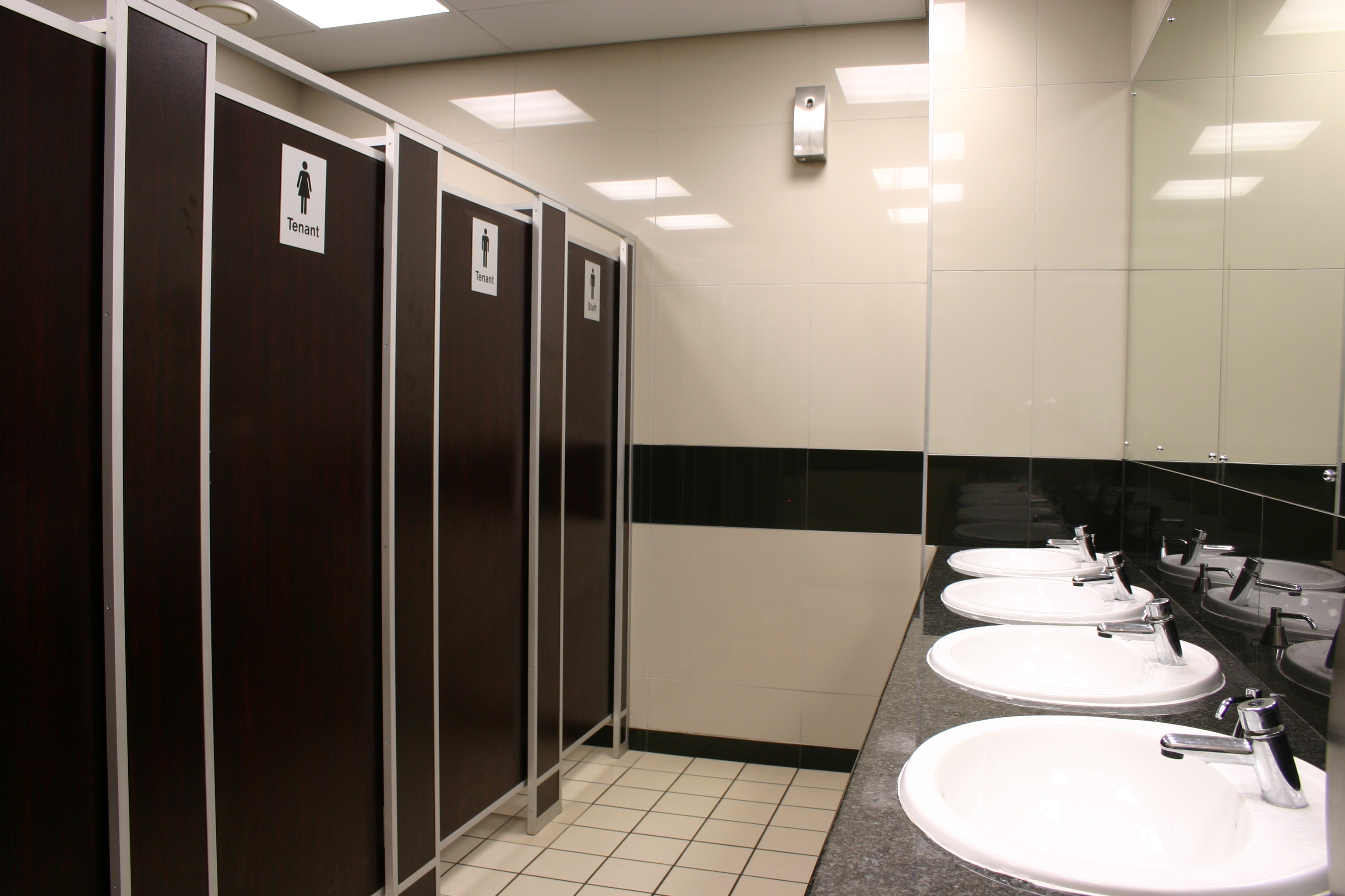 T1 framed toilet partition pelican systems - How to install bathroom partitions ...