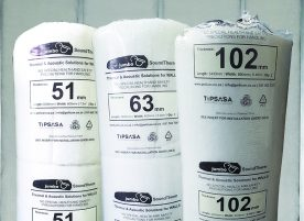 Image of 3 rolls of JUMBO SoundTherm 51mm, 63mm and 102mm