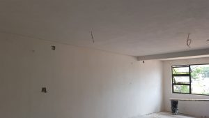 Skimmed Walls and Ceilings at Mbabane Hospital Swaziland