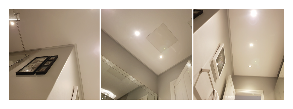 Ceilings showing shadowline trims