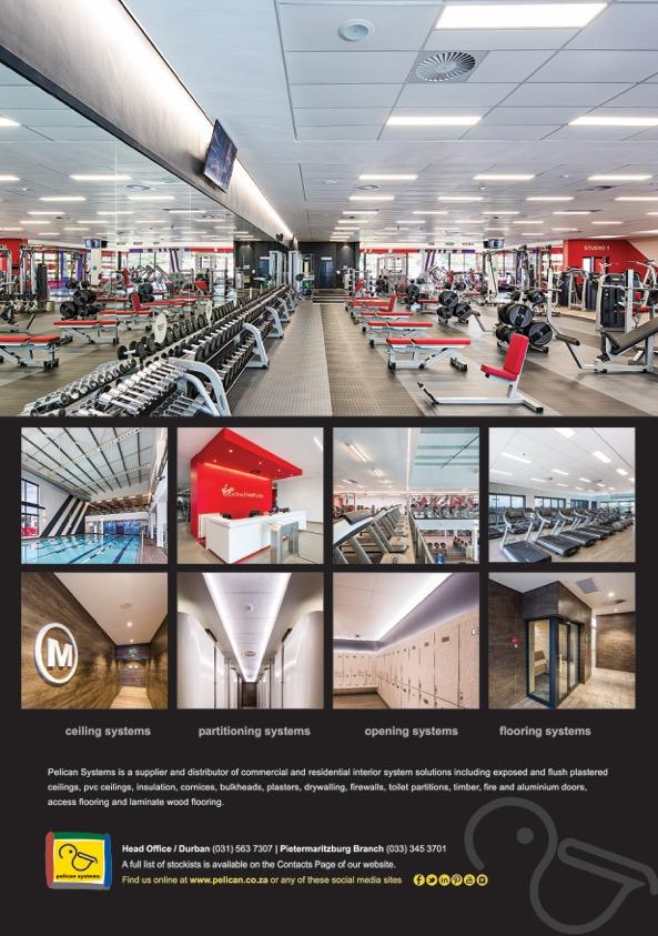 Advert showing Virgin Active Hillcrest interiors