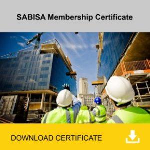 SABISA Membership Certificate