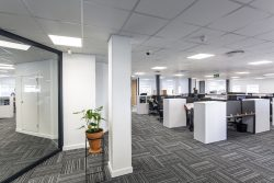 Acoustic Ceilings At Bidvest Panalpina Logistics For Open Plan Spaces Using AMF Star