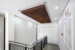 Bulkheads Featuring Wood Inlay Ceiling Detail At Bidvest Panalpina Logistics