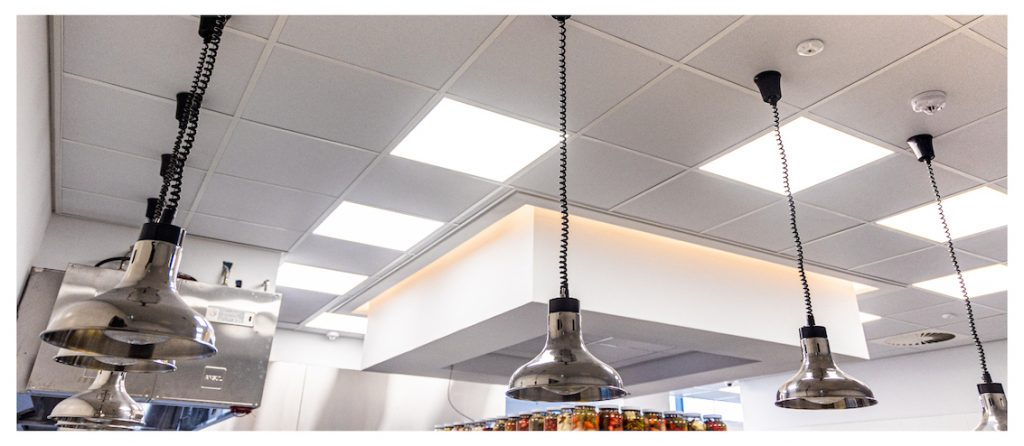 Suspended Ceiling using econogrid and econocal ceiling tiles